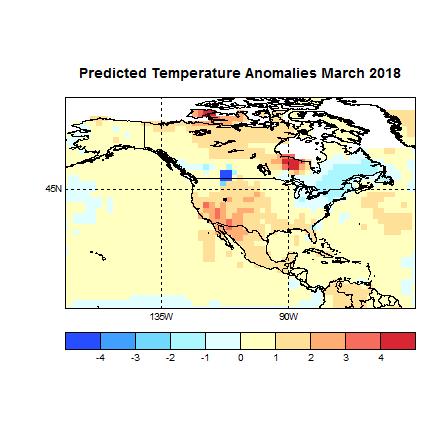 Prognose Temperatur März 2018 Amerika neu
