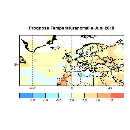 Prognose Juni 2018 Temperatur Europa neu