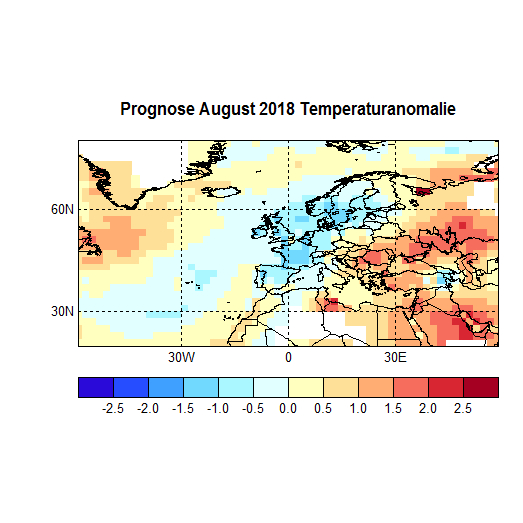 Prognose August 2018 Temperatur Atl+Eu Bild