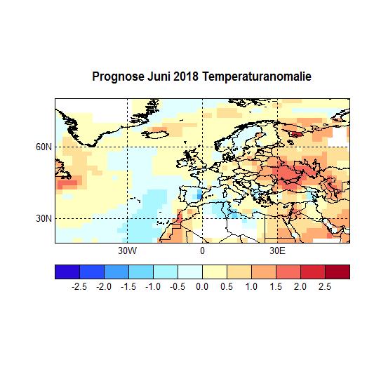 Prognose Juni 2018 Temperatur Atl+Eu Bild