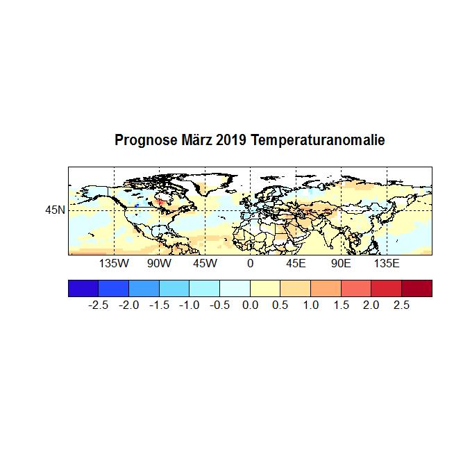 Prognose März 2019 Temperatur NH Bild Strat
