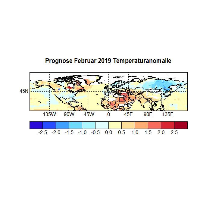 Prognose Februar 2019 Temperatur aus Strat