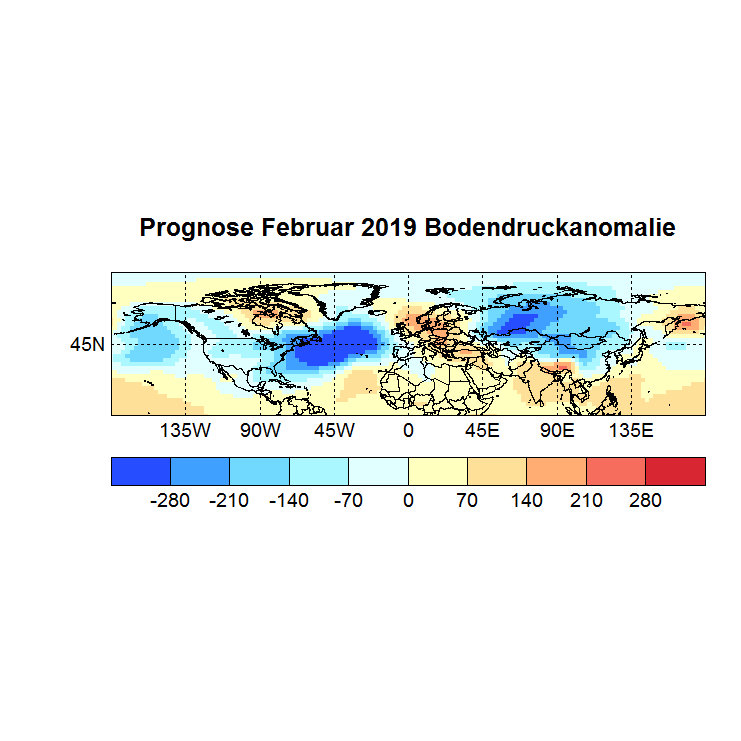 Prognose Februar 2019 Bodendruck NH Bild aus Jan
