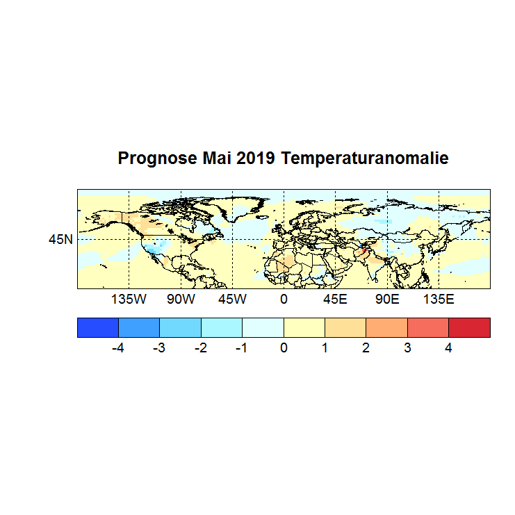 Prognose Mai 2019 Temperatur NH Bild aus März