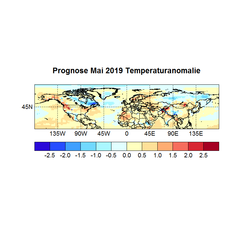 Prognose Mai 2019 Temperatur NH Bild aus April