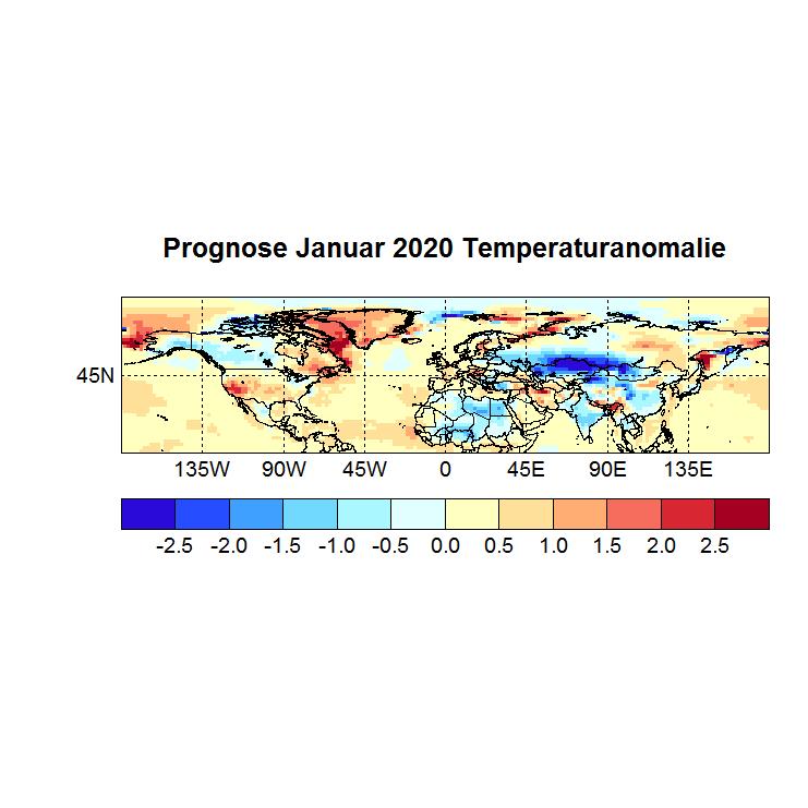 Prognose Januar 2020 Temperatur NH Bild aus Okt