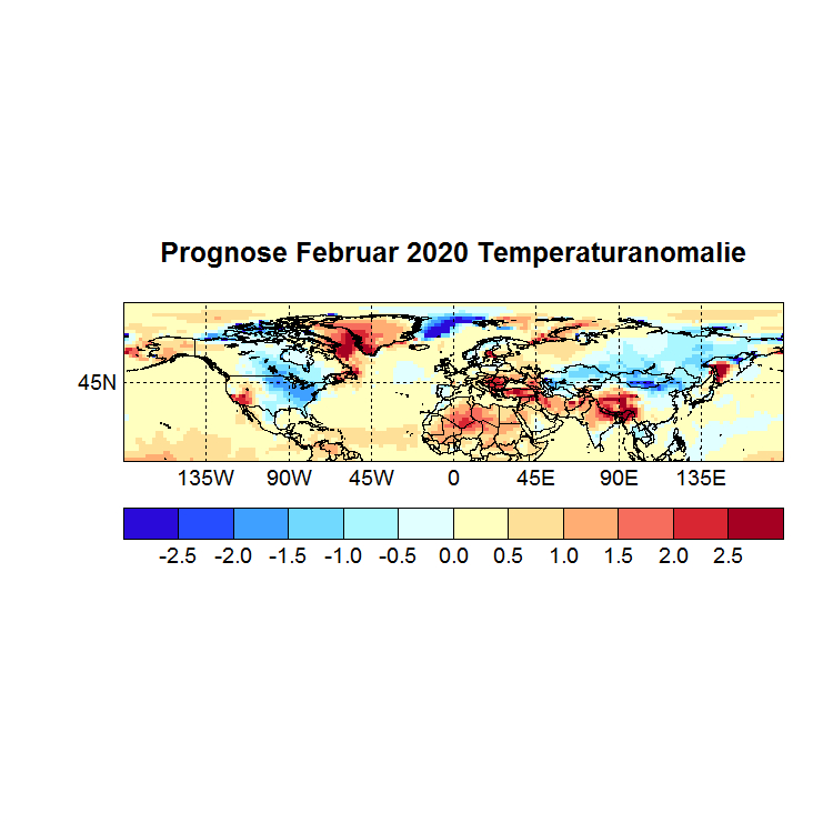 Prognose Februar 2020 Temperatur NH Bild aus Nov