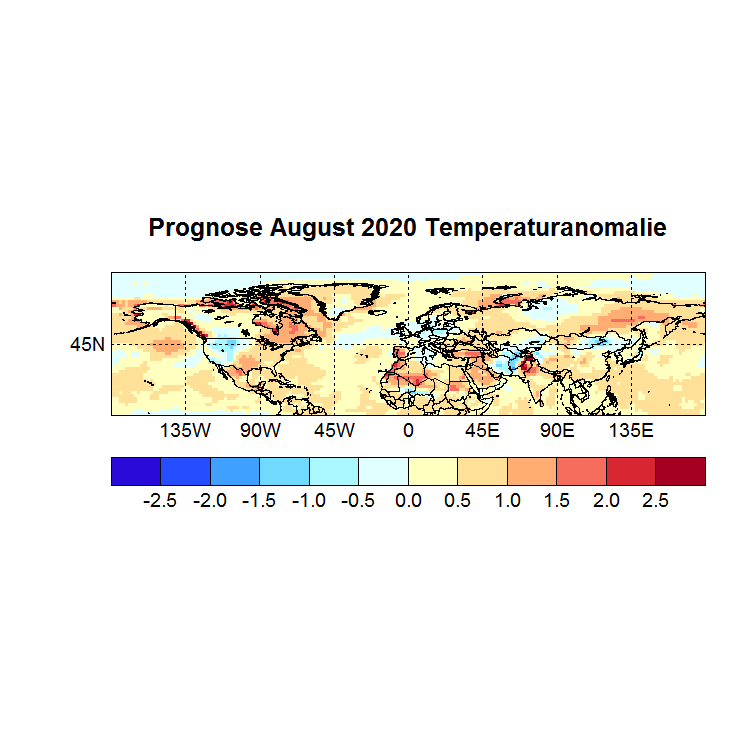Prognose August 2020 Temperatur NH Bild aus Mai